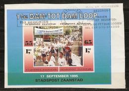 Pays-Bas 1990 - Stadspost Zaanstad - Poste Privée - 11e Dam Tot Dam Loop - Bloc De 4° Sur Fragment - Lettres & Documents