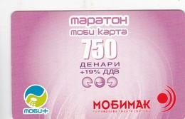 Macedonia, MK-COS-REF-?, 750 Units Pink Mobimak Refill Card, 2 Scans. - Macedonia