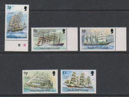 """Falkland Islands 1991 Definitives / Cape Horners Imprint Date """"1991"""" 5v ** Mnh (39515M) - Falklandeilanden"""