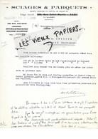 92 - Hauts-de-seine - BOULOGNE-BILLANCOURT - Facture SCIAGES ET PARQUETS - 1939 - REF 97D - Francia