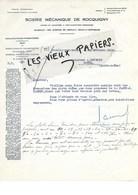 92 - Hauts-de-seine - NEUILLY-SUR-SEINE - Facture SCIERIE DE ROCQUIGNY - Exploita. Forestières - Bois - 1928 - REF 97D - Francia