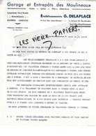 92 - Hauts-de-seine - ISSY-LES-MOULINEAUX - Facture DELEPLACE - Garage - Camions-tracteurs - 0000 - REF 97D - Francia