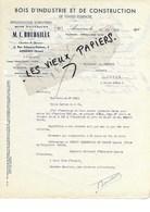 92 - Hauts-de-seine - ASNIERES - Facture BOUDAILLE - Scierie - Bois - Exploitations Forestières - 1933 - REF 97D - Francia