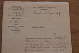 Recrutement De L'Armée, Classe 1898 Tableau Recensement, Clauzal (Constantine, Algérie), 1899 - Documenti Storici