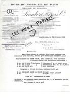 92 - Hauts-de-seine - COURBEVOIE - Facture LAMBERT - Bois - Fabrique De Moulures - 1939 - REF 97D - Francia