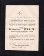 HAVELANGE OSSOGNE Bernardine HUSKIN 46 Ans 1895 Famille MELOT GEORGE - Avvisi Di Necrologio