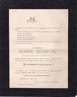 HAVELANGE OSSOGNE Marie HUSKIN 50 Ans 1896 Famille MELOT GEORGE - Avvisi Di Necrologio
