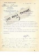 93 - Seine-st-denis - LE RAINCY - Facture LANDIER - Représentant - Bois D'industrie - 1928 - REF 97D - Francia