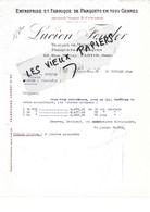 93 - Seine-st-denis - PANTIN - Facture FENDER - Fabrique De Parquets - 1928 - REF 97D - Francia
