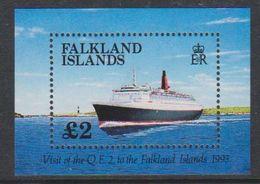 Falkland Islands 1993 Visit Of QE II / Ship M/s ** Mnh (39516N) - Falklandeilanden