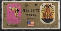 PIA - ARABIA DEL SUD EST - SHARJAH - 1972 - Giochi Olimpici Di Monaco - Vincitori : Mark Spitz -(Yv  245) - Arabia Saudita