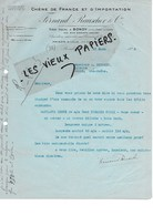 93 - Seine-st-denis - BONDY - Facture RAUSCHER - Importation De Chêne - 1928 - REF 97D - Francia