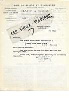 94 - Val-de-marne - IVRY - Facture HAUT & KIRZ - Bois De Sciage Et D'industrie - 1933 - REF 97D - Francia