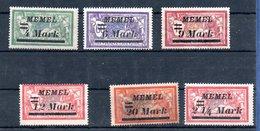 Memel / Lot De Timbres - Memel (1920-1924)