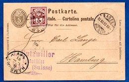 Suisse  -  Entier Postal De Basel Pour Hamburg    --  11/12/1893 - Stamped Stationery