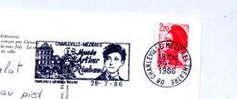 Carte Flamme Charleville Rimbaud Vue  Divers - Marcophilie (Lettres)
