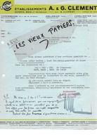 Luxembourg - LUXEMBOURG - Facture CLEMENT - Scierie - Bois Et Matériaux - 1939 - REF 97E - Luxembourg