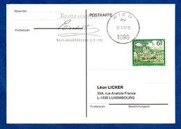 Autriche  -  Postkarte --  Cachet  Théater An Der Wien  --  22/6/1992 - 1991-00 Cartas