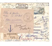 France 1131 S/L.recom.c.Montauban 1958 V.E/V Recherche Du Destinataire + Papillon Délai Expiré Retour Spectaculaire 2073 - Postmark Collection (Covers)