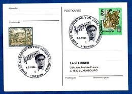 Autriche  -  Postkarte --  Cachet  90 Geburtstag Von Joseph Schmitt  --  8/3/1994 - 1991-00 Cartas