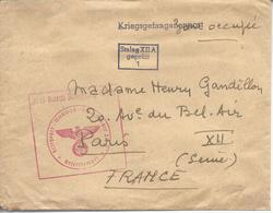 De Prisonnier De Guerre Du Stalag XII A (Limburg) Cachet Du Camp - Guerra De 1939-45