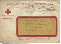 Croix Rouge Genève Réponse à Demande D'information Sur Un Soldat Français - Guerre De 1939-45