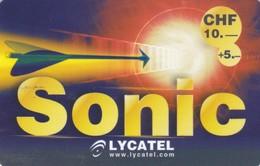 Switzerland, CH-LYC-SON-0003?, Sonic (10+5 Yellow), 2 Scans. - Suisse