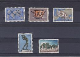 GRECE 1967 ATHLETISME  Yvert 921-925 NEUF** MNH - Grèce