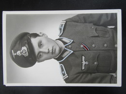 Fotokarte SS Elite Totenkopf EK2 - Erhaltung II - Weltkrieg 1939-45