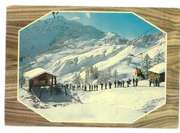 Valle D'Aosta Courmayer – M. Bianco Partenza Seggiovia Dzeleuna Viaggiata 1976 - Italia