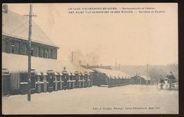 LE CAMP D'ELSENBORN EN HIVER - BARRAQUEMENTS ET CASERNE - Elsenborn (Kamp)
