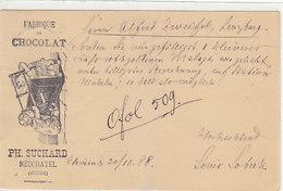 Fabrique De Chocolat Ph.Suchard - Entier Postal - Enfants - 1888       (P-162-60720) - Publicité