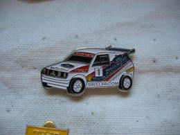 Pin's Rallye, Course De Côte, Véhicule De Course Mitsubishi, Sponsors; Facom, Michelin, Rothmans, Shell, Ralliart - Rallye