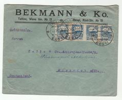 1921 ESTONIA COVER Bekmann Co Multi IMPERF Stamps Tallinn To Germany - Estonia
