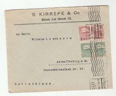1920 ESTONIA COVER Kirrepe Co Multi IMPERF OVPT Stamps Tallinn To Germany - Estonia