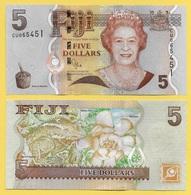 Fiji 5 Dollars P-110b 2011 UNC - Fiji