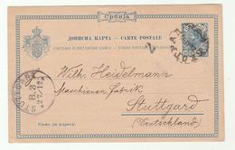 1895 SERBIA Postal STATIONERY  To GERMANY Belgrad To Stuttgart Stamps Cover - Serbia