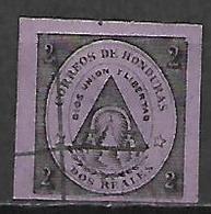 HONDURAS     -   1865.   Y&T N° 2 Oblitéré - Honduras