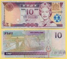 Fiji 10 Dollars P-106a 2002 UNC - Fiji