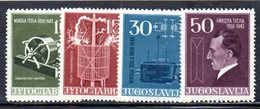 YUG82B - YUGOSLAVIA 1956, Serie Unificato N.  693/696  ***  Tesla - 1945-1992 Repubblica Socialista Federale Di Jugoslavia