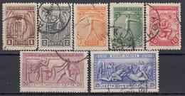 GRIECHENLAND 1906 -  MiNr: 144-150 7 Werte Used - 1906 Tweede Olympische Spelen