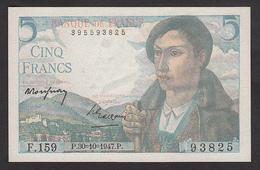 5 Francs Berger - Fay: 5/7a Du 30-10-1947 En Neuf - Voir Descriptif - 1871-1952 Circulated During XXth