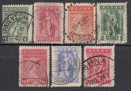 GRIECHENLAND 1911 -  MiNr: 158-173  7 Werte Used - Griechenland