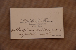 Carte De Visite : Abbé J.Favier à Mèze (Hérault) - Visiting Cards