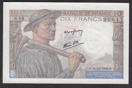 10 Francs Mineur - Fay: 8/5 Du 19-11-1942 En Neuf - Voir Descriptif - 1871-1952 Anciens Francs Circulés Au XXème