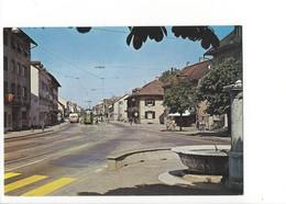 20299 -  Birsfelden Dorfstrasse Tram Et Fontaine (format 10X15) - BL Bâle-Campagne