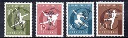 YUG84B - YUGOSLAVIA 1957, Serie Unificato N. 725/728  *** Ginnastica - 1945-1992 Repubblica Socialista Federale Di Jugoslavia