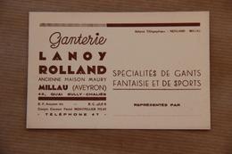 Carte Ganterie Lanoy Rolland, Ancienne Maison Maury à Millau (Aveyron) - Vestiario & Tessile