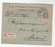 1904 Registered SWEDEN Cover WAX SEAL  Petterssons Bosattningsaffar Goteborg To Malmo  30o Stamps - Sweden