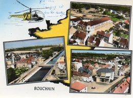 CPSM Dentelée - BOUCHAIN (59) - Carte De Multi-Vues Aériennes à L'hélicoptère Dans Les Années 60 - Bouchain